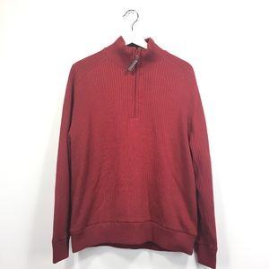 Aureus XL Sweater Red Breeze Blocker 1/4 Zip